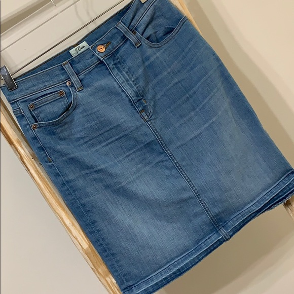 J. Crew Dresses & Skirts - JCREW | 27 | denim pencil skirt w/ released hem